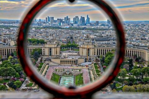 Depuis la Tour Eiffel, Paris, avril 2016