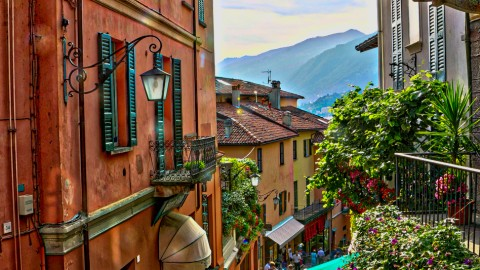 Coucher de soleil à Bellagio, Italie du Nord, août 2017