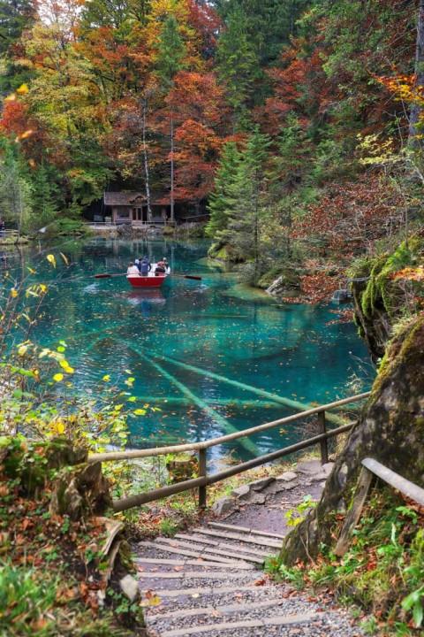 Lac de Blausee, Kandergrung, Suisse, octobre 2019