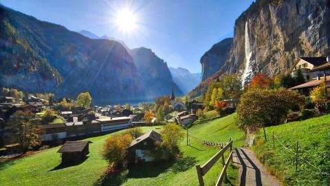 Lauterbrunnen et la vallée des 72 cascades, Suisse, octobre 2019