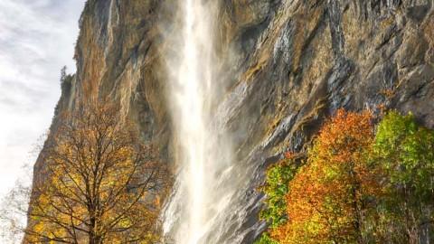 Cascade de Staubbach, Lauterbrunnen, Suisse, octobre 2019