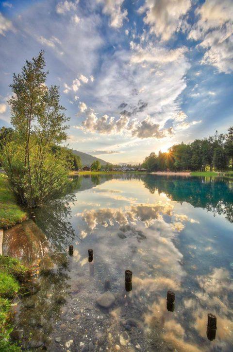 Coucher de soleil au lac Bleu, Morillon, Juin 2020