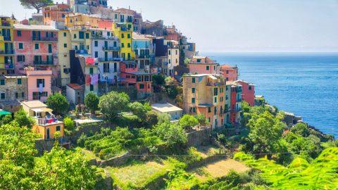 Corniglia, Les Cinque Terre, Italie, Août 2020