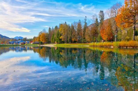 Lac bleu, Morillon, octobre 2017
