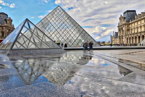 Louvre et alentours, Paris, avril 2016
