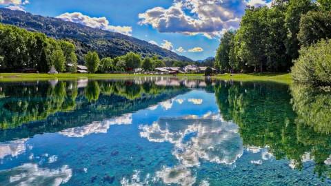 Lac bleu, Morillon, juin 2016