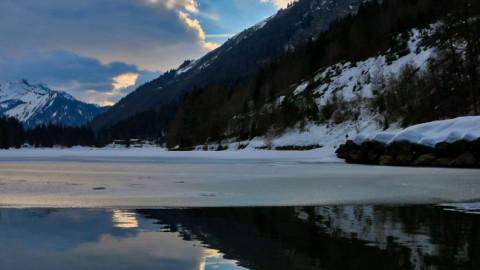 Lac de Montriond, Bellevaux, mars 2018