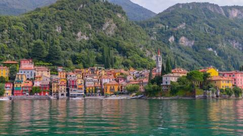 Sûr le lac de Côme, Italie du Nord, août 2017