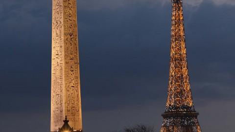 Place de la Concorde au Louvre, Paris, avril 2016