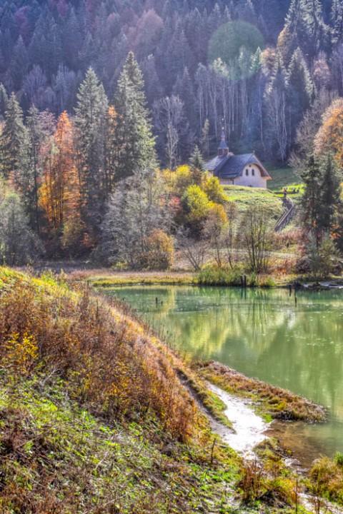 Lac de Vallon, Bellevaux, octobre 2020