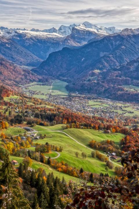 Hauteur face au Mont-Blanc, Samoëns, octobre 2020