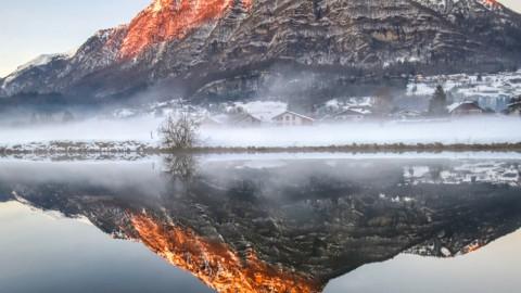 Lac de Flérier, Taninges, janvier 2021
