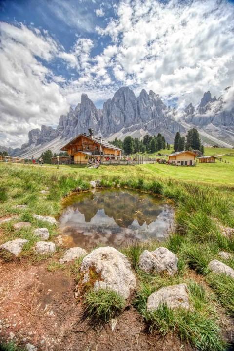 Geisler Alm, Les Dolomites, Italie, août 2021