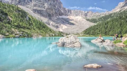 Lago di Sorapiss, Les Dolomites, Italie, août 2021