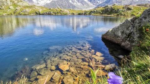 Lac Blanc et lac de Chésery, Chamonix Mont-Blanc, septembre 2021